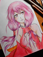Inori Guilty Crown Fan Art by UchihaAkanee