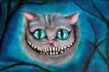 Chesire Cat drawing by UchihaAkanee