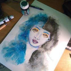 Melanie Martinez Galaxy Fan Art by UchihaAkanee