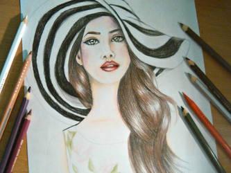 Lana Del Rey Drawing by UchihaAkanee