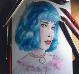 Halsey Drawing by UchihaAkanee