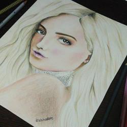 Bebe Rexha drawing by UchihaAkanee