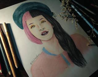 Melanie Martinez Drawing by UchihaAkanee