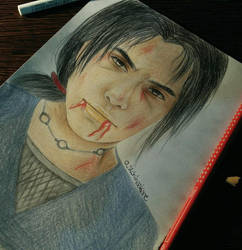 Itachi's death drawing by UchihaAkanee
