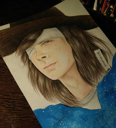 The walking dead Carl drawing (Chandler Riggs ) by UchihaAkanee