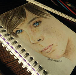 Carl Grimes/Chandler Riggs drawing by UchihaAkanee