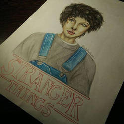 Eleven drawing Stranger Things by UchihaAkanee