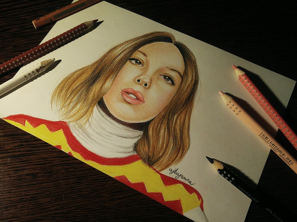 Millie Bobby Brown drawing by UchihaAkanee