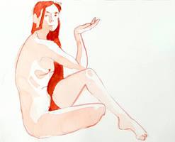 watercolour nude sketch by Neivan-IV