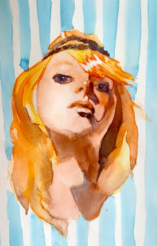 Looking down on you watercolour by Neivan-IV