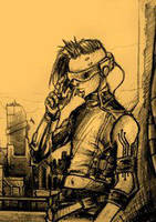 Peter Fabian cyberpunk version by BloodlustComics