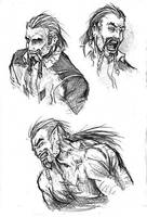 Faces of Vincent Stone by BloodlustComics
