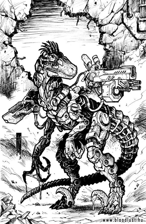 Roboraptor by Peter Fabian by BloodlustComics