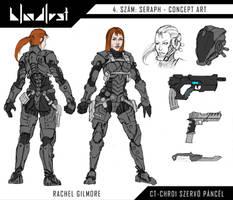 Rachel uj szervopancelja es fegyverei by BloodlustComics