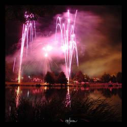 Purple fireworks by kil1k