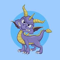 Spyro the Dragon by SeanDrawn