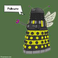 Bee Dalek by SeanDrawn