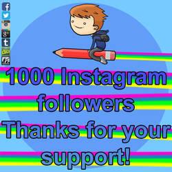 1000 Instagram Followers! by SeanDrawn