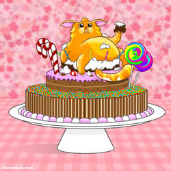 Cat in the Cake by SeanDrawn