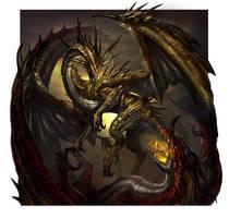 Gold Dragon by boolahaha