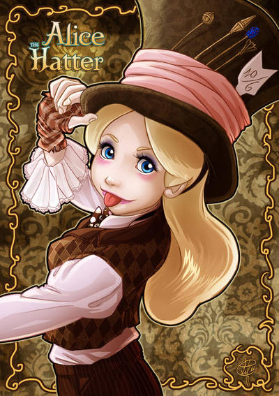 Alice Hatter: mad as a hatter by clefchan