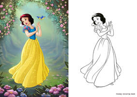 Snow white coloring book by clefchan