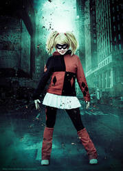 Harley Quinn dark city by clefchan