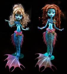 Monster high Ooak custom mermaids by clefchan