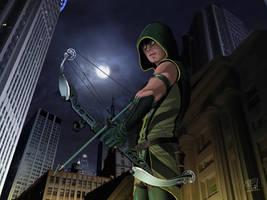 Green Arrow rocks by clefchan