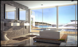 Sea Bathroom by diegoreales
