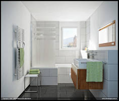 Double House - Bathroom by diegoreales