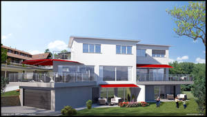 Double House - Exterior 02 by diegoreales
