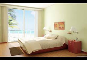 Beach Bedroom by diegoreales