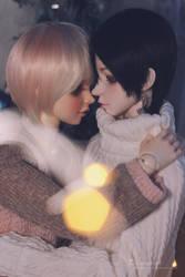 Christmas kiss by darknaito