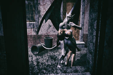 Girl of the gargoyle 3 by LordOfTheCarry