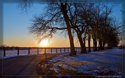 Winter Sunset I by yojin