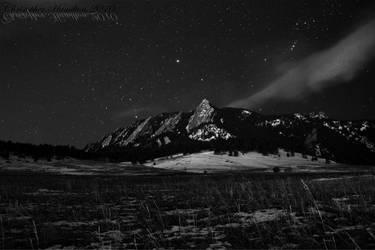 Snowy Flatirons by Chryllis
