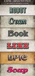 Vintage-Retro Text Styles by nexion218