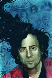 Tim Burton Portrait commission by ChrisChuckry