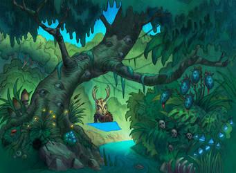 Forest spirit by ChrisChuckry
