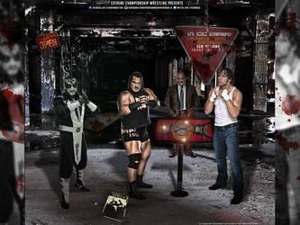 ECW RETURNS DEAN AMBROSE VS RHYNO VS PENTAGON JR by SoulRiderGFX