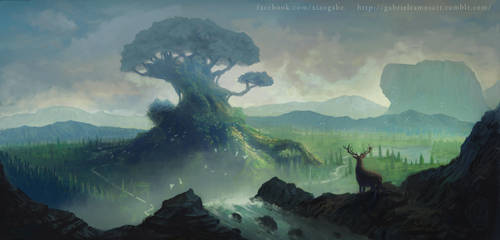 Mother Tree Finished Art by GabeRamos