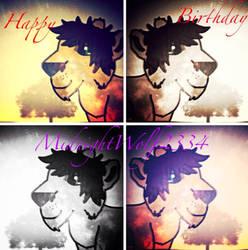 Happy birthday MidnightWolf! by lumpadoodle