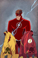 Flash Annual 1 Cover Animated Style by Tyraknifesaurus