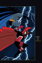 Spawn/ Batman Cover Animated Style by Tyraknifesaurus