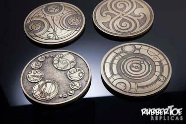 Gallifreyan Coasters by rubbert0e