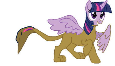 alicorn twilight becomeing Gilda tf 05 by qjosh