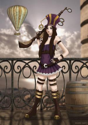 Fan-Art Caitlyn from League of Legends by Mylene-C