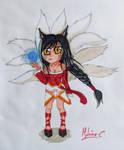 Chibi Ahri by Mylene-C