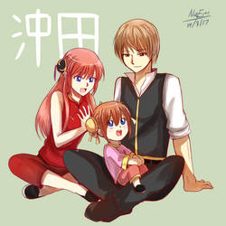 Gintama : Okita Family by HaiperKun